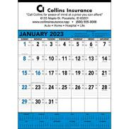 promotional blue & black contractors calendar