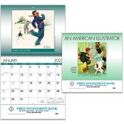 promotional an american illustrator wall calendar - spiral
