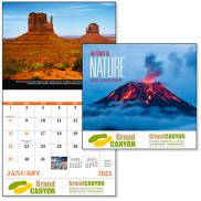 promotional power of nature stapled calendar