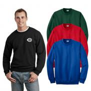 promotional gildan® - dryblend® crewneck sweatshirt (color)