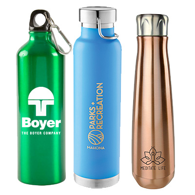 promotional aluminum & steel bottles