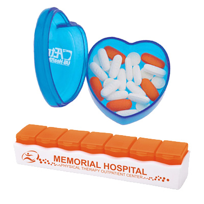 Promotional Pill Boxes with logo