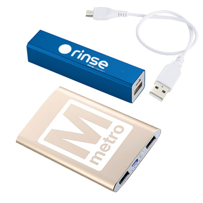 promotional power banks & chargers