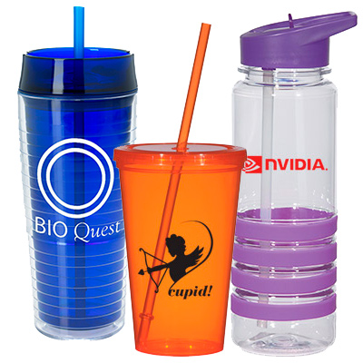 Custom Tumblers with Straw - Promotional Cups with Straw