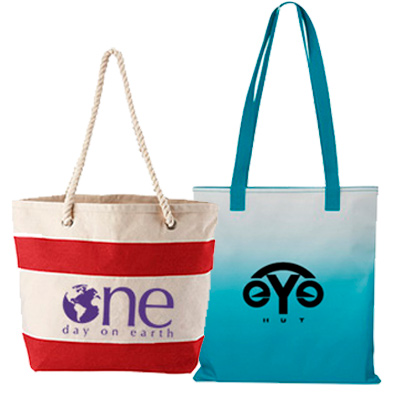 promotional cotton & polyester totes