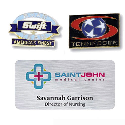 promotional lapel pins & name badges/tags