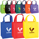 Promotional Grocery Tote Bags, Atlas Nonwoven Grocery Tote