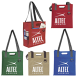 Custom Non Woven Dual Carry Tote Bag