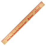 "14307 - 12"" Natural Finish Wood Ruler"