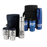 Custom Stainless Steel Travel Mug Set - Logo Stainless Steel Travel Mugs