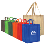 Promotional Reusable Grocery Bags, Non Woven Reusable Grocery Tote Bags
