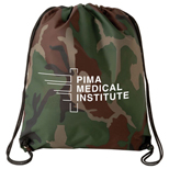 Camo Drawstring Backpack, Imprinted Camo Drawstring Backpack
