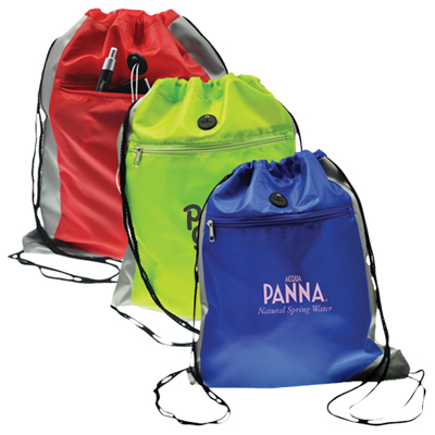 Double Square Drawstring Bag