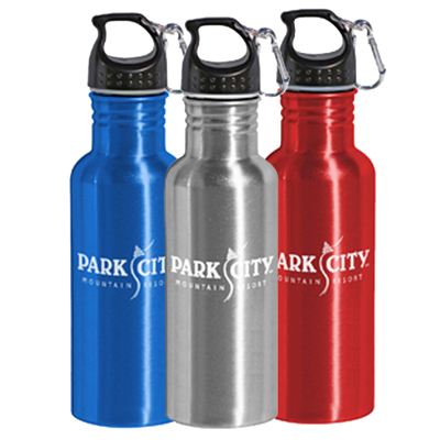 28 oz aluminum bottle w/carabiner