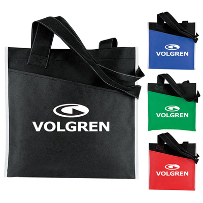 Promotional Angled Pocket Non Woven Tote