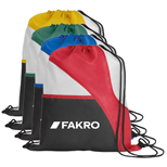 16554 - Tri-Color Drawcord Bag
