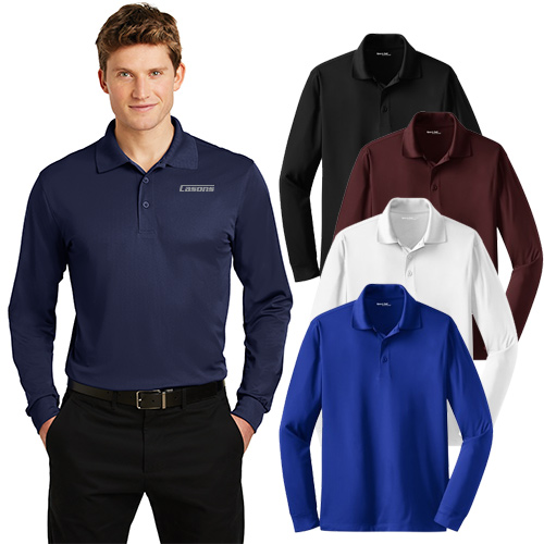 sport-tek® long sleeve micropique sport-wick® polo