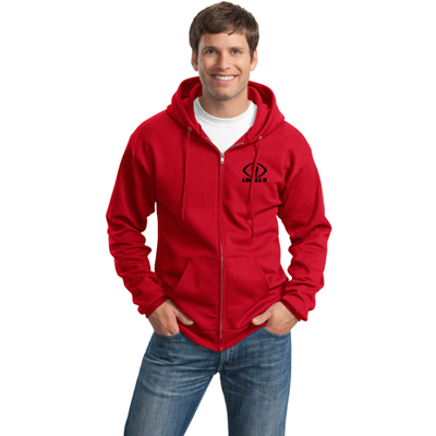 port & company zip hooded sweatshirt