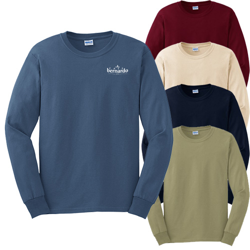 promotional Gildan men's long sleeve t-shirt
