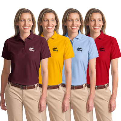 custom logoed Port Authority ladies sport shirt