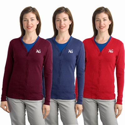 port authority ladies stretch cardigan