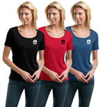 16663 - Port Authority Ladies Scoop Tee