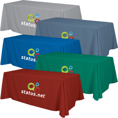 8' Standard Table Throw Full Color