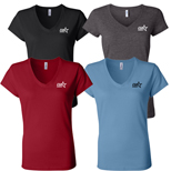 16843 - Colored Ladies V-Neck T-Shirt