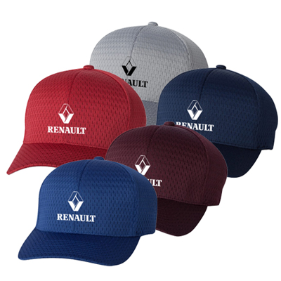 athletic mesh cap for golf players