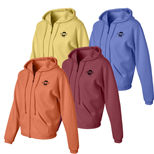 17041 - CC Ladies' Zip Hooded Sweatshirt