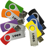 Promotional Usb -  Promotional Matrix Swivel USB Drive 2GB