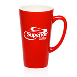 Promotional 16oz Red Cafe Coffee Mugs - Logo Red Cafe Coffee Mugs