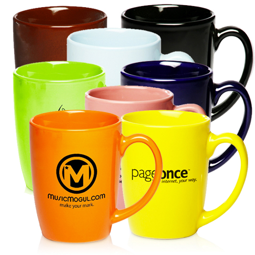 12 oz. The Riviera Ceramic Coffee Mug (Color)