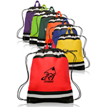 Imprinted Small Non-Woven Reflective Sports Pack - Promotional Non-Woven Reflective Sports Pack