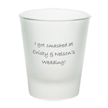 Customized Shot Glasses - 2oz Frosted Shot Glasses