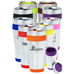 17312 - 16 oz. Insulated Stainless Steel Travel Mugs