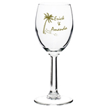 17367 - 6.5 oz Etched Wine Glasses (Clear)