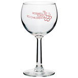 Personalized 8 oz Red Wine Glasses, Inexpensive Wine Glasses