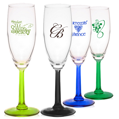 Colored Champagne Flute Glasses
