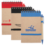 17392 - 5.875 in x 4 in Recycled Mini Eco Jotter with Pen