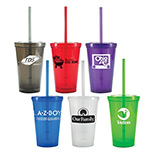 Promotional 16 oz tumbler - Custom Tumbler with Lid and Straw
