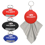 17528 - Rubber Microfiber Holder Key Tag