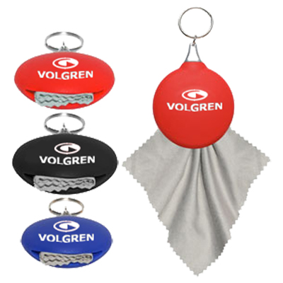 rubber microfiber holder key tag