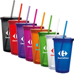 17567 - Double Wall Acrylic Tumbler - 16 oz