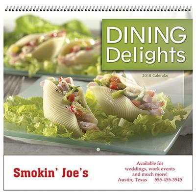 dining delights wall calendar