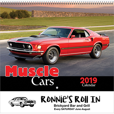 muscle cars wall calendar