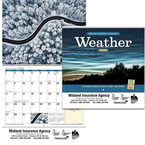 Weather Calendar 2022.Promotional Weather Watchers Wall Calendar 2022 Promo Direct