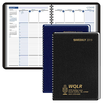 column style weekly planner