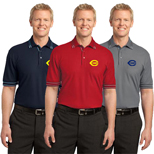 Personalized Port Authority Silk Touch Tipped Polo Shirts