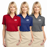 Imprinted Port Authority Ladies Silk Touch Piped Polo shirt